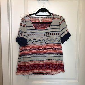 Tops - Aztec pattern top